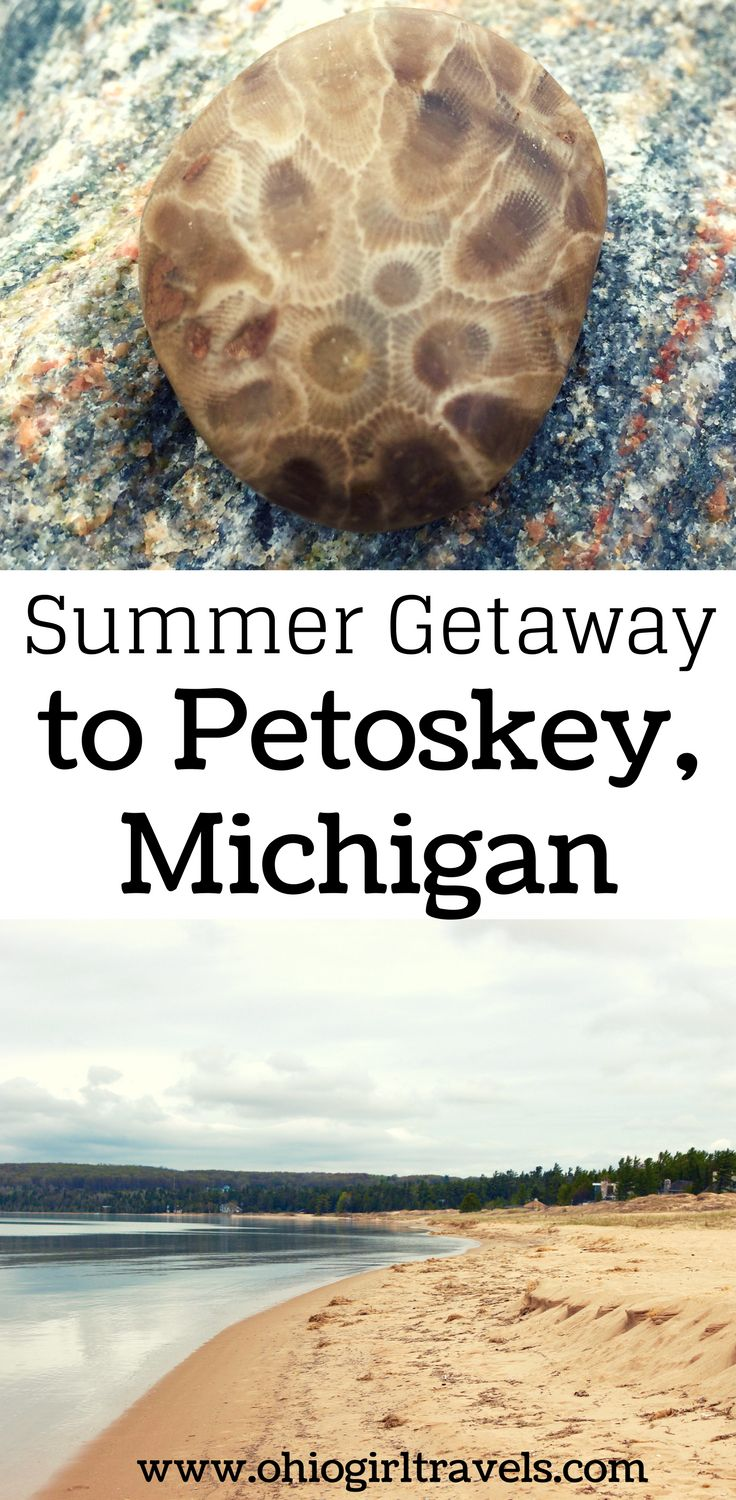 Petoskey, Michigan is the perfect summer vacation spot. It has beautiful beaches, delicious food, and a relaxing vibe. If you're looking for a family vacation spot, you found it! Check out these things to do in Petoskey, where to stay in Petoskey, foods to try in Petoskey, and much more! You'll fall in love with this adorable town. Make sure you save this summer getaway spot to your travel board so you can find it later.
