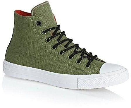 Converse Men's Chuck Taylor All Star II, GREEN/WHITE/BLACK, 4 M