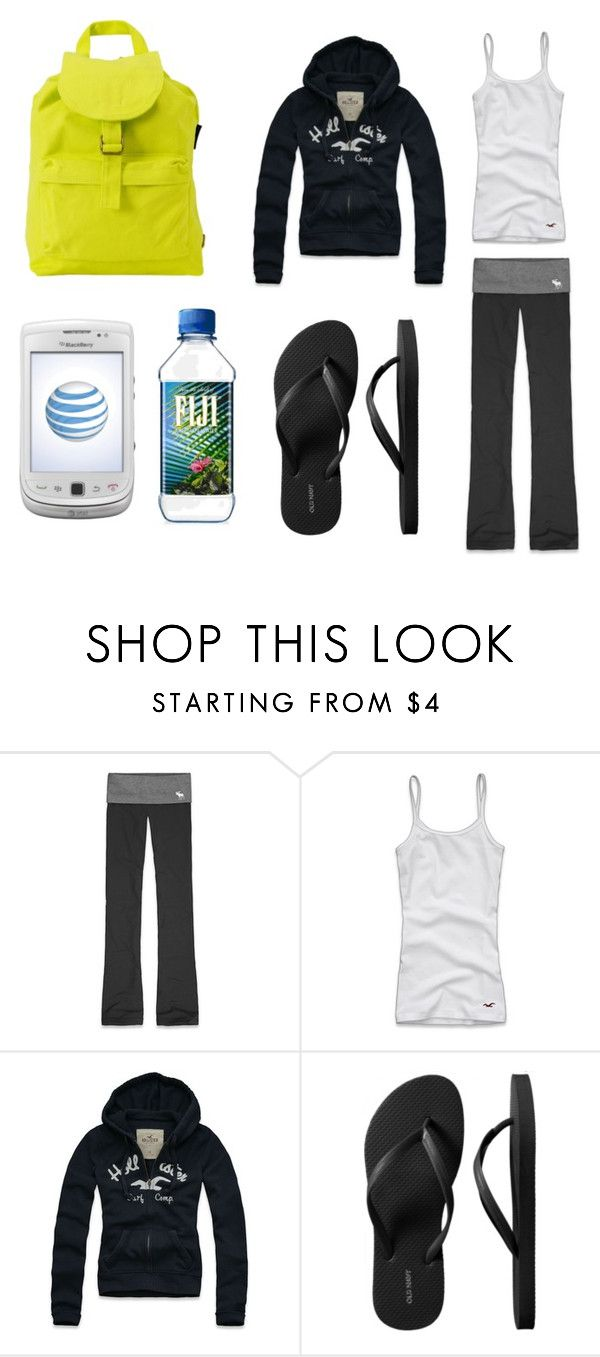 """""""Vacation Day 01"""" by dhdtvdgcuigdcrhfe ❤ liked on Polyvore featuring Abercrombie & Fitch, Hollister Co., Old Navy, BAGGU, neon, urban outfitters, backpack, old navy, fiji and blackberry torch"""