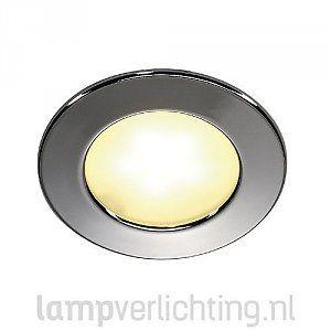 Platte led Inbouwspot voor inbouw in plafond of kast. #inbouwspot #meubelverlichting #ledverlichting