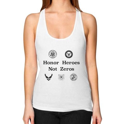 Women's Racerback Tank White My Dad Wants You to Know