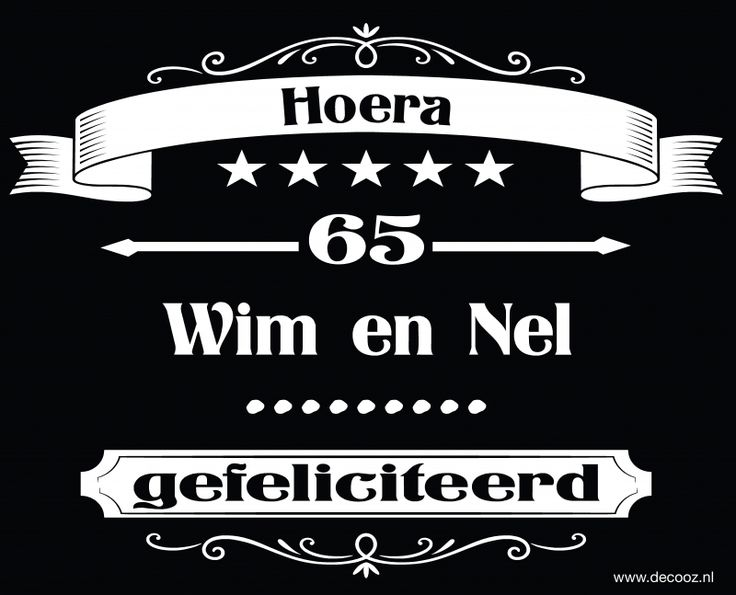 Sticker 65 jaar