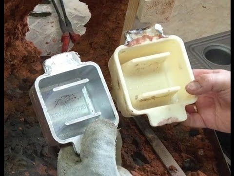 Casting Scuba Dive weights belt in 3D printed aluminum mould 3/4
