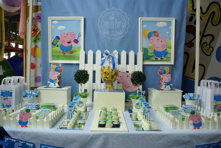 "GEORGE PIG : "" Birthday 4th - Benjamín"" Birthday Party Ideas   Photo 2 of 15"