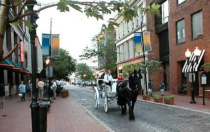 Laclede's Landing: Downtown St. Louis. Restaurants, bars, cobblestone streets, and carriage rides.