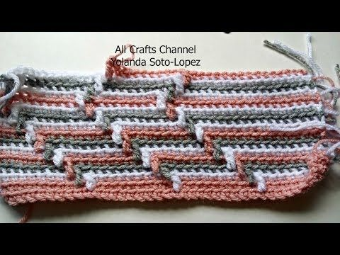 How to crochet Apache Tears pattern for blanket (English ) - YouTube