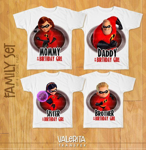 e4d7e2031 Incredibles 2 Birthday Girl shirt, Family Shirt iron on transfers - 4 Design  Mommy, Daddy, Brother, in 2019 | Products | Incredibles birthday party, ...