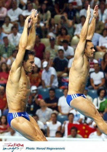 Athens 2004. Gold medal in Diving. Thomas Mpimis and  Nikos Syranidis