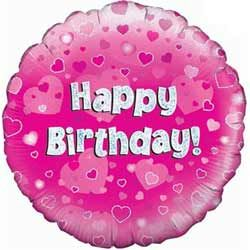 Happy Birthday Pink Balloon with National UK Delivery only £9.95 Boxed
