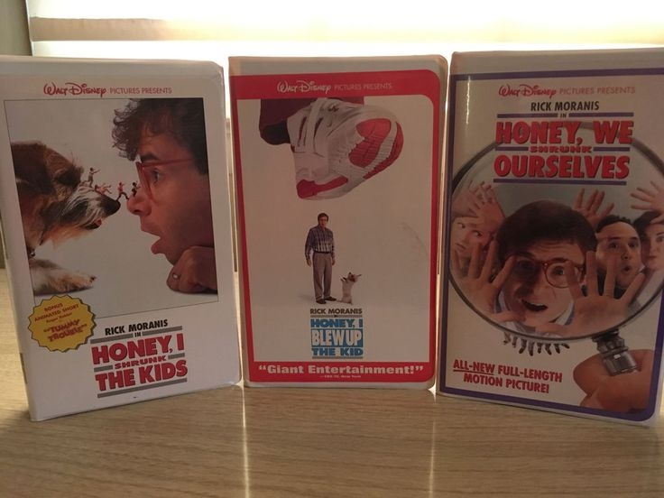 """3 Walt Disney VHS Tapes """" Honey I Shrunk The Kids"""" and two other in the series"""