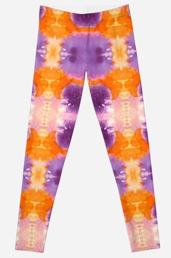 Leggings with abstract flowers design.