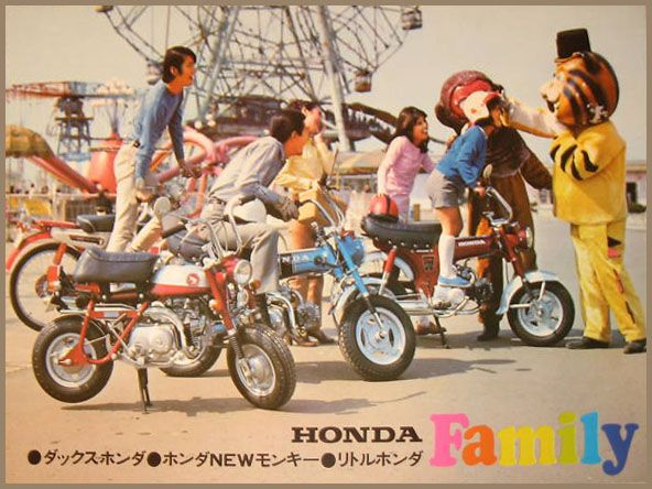 Honda Dax And Monkey Japanse Vintage MotorcyclesHonda BikesCars