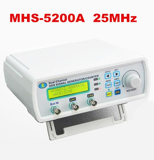 Cheap meter tools, Buy Quality meter ph directly from China meter forms Suppliers: Digital DDS Dual-channel Signal MHS-5200A Source Generator Arbitrary Waveform Frequency Meter 25MHz  for researching engineer