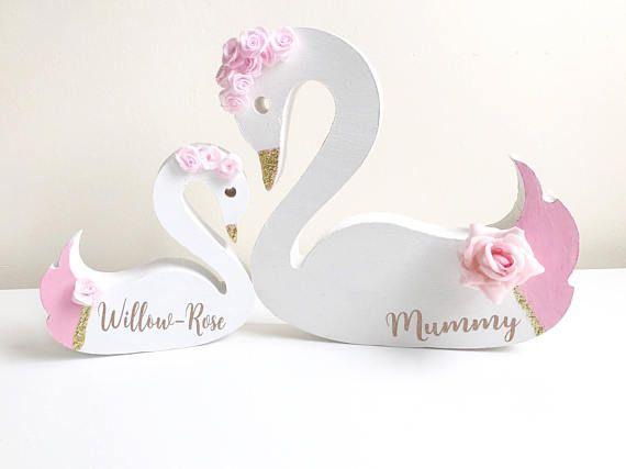 Swan Decor Childrens Bedroom Accessories Freestanding