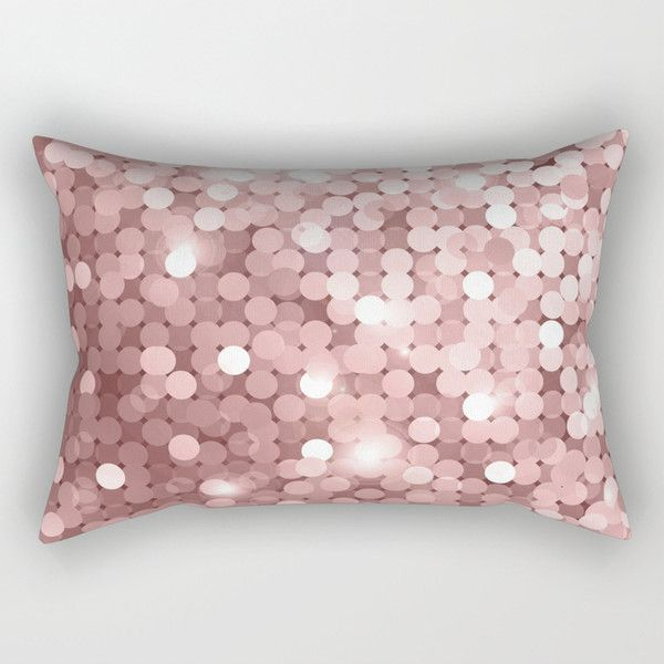 Rose Gold Glitter Rectangular Pillow 2890 Rsd Liked On Polyvore Featuring Home Home Decor Throw Pillows Rose Ho Pillows Rectangular Pillow Throw Pillows