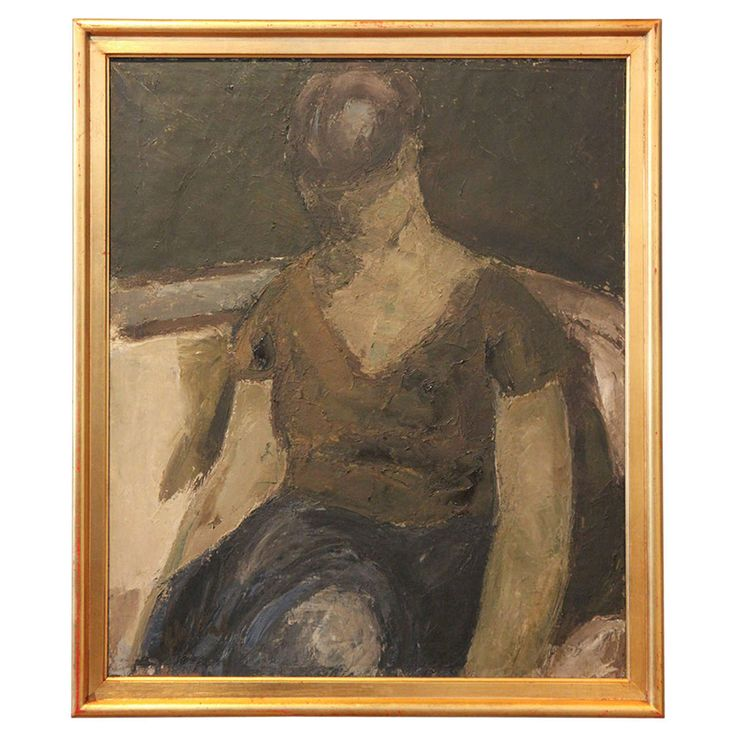 Abstract Portrait of a Woman, Poul Ekelund | From a unique collection of antique and modern paintings at https://www.1stdibs.com/furniture/wall-decorations/paintings/