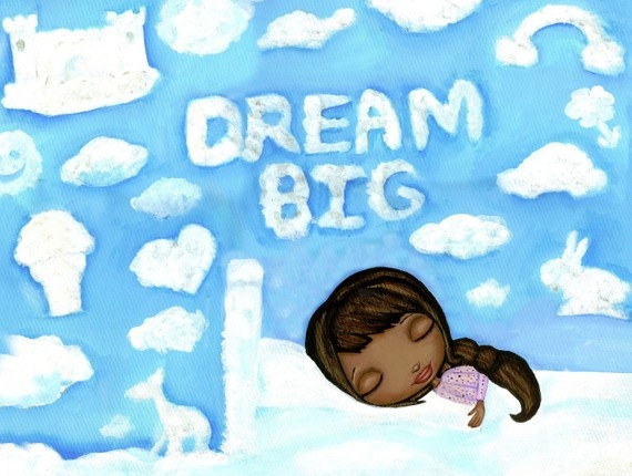 Dream Big Art Print With African American by thedreamygiraffe, $18.00