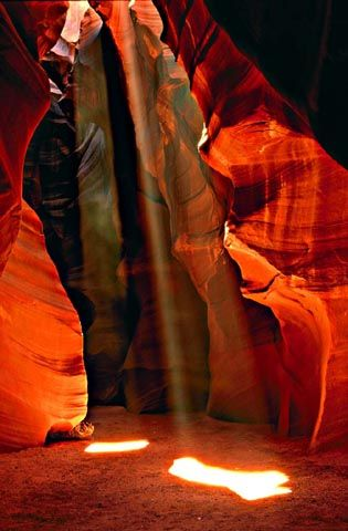 Antelope Canyon, réserve de la Nation Navajo, Arizona, USA