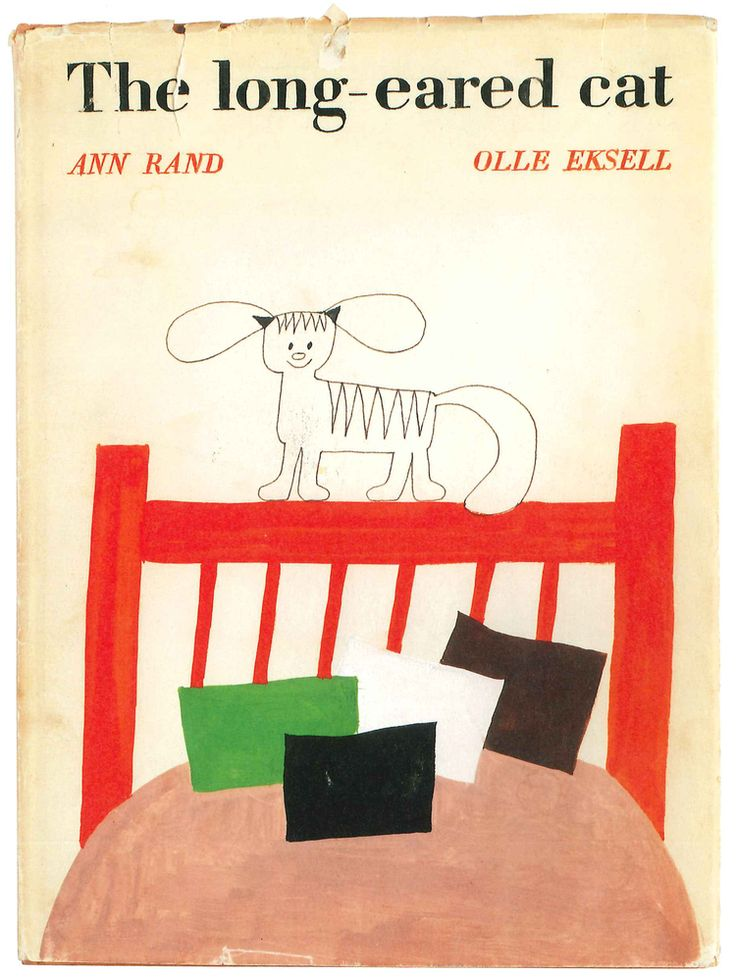 "Vintage children's book: ""The long-eared cat"" by Ann Rand and Olle Eksell."