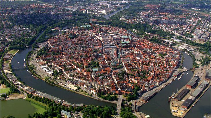 Aerial photo of Lübeck, Germany