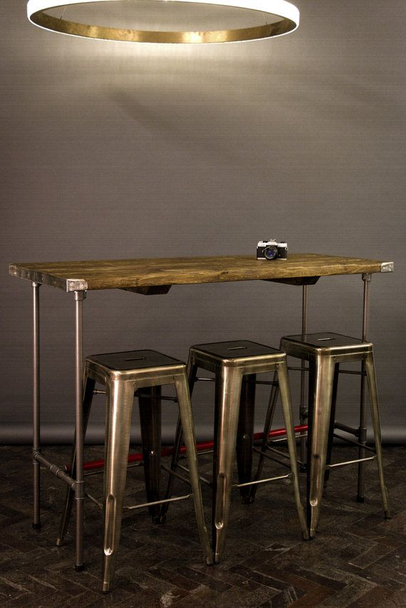 Industrial Reclaimed Vintage Style Tables Wooden Topped