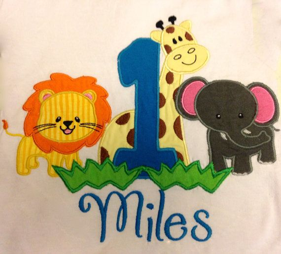 Decorating Ideas > Zoo Animals 1st Birthday Shirt By BrittsCoolCreations On  ~ 200332_Birthday Party Ideas Zoo Animals