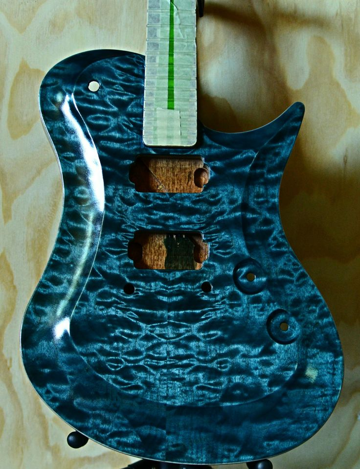 #wtfosterguitars #F9001Modern finished in Ocean ready for wet sanding and buffing this will be up on www.wtfosterguitars.com/shop very soon #guitars #guitarist