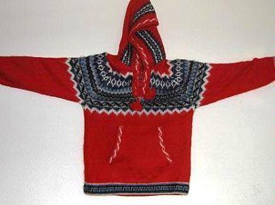 Roter #Kapuzen #Kinder #Pullover, #Alpakawolle, 8- 14 Jahre