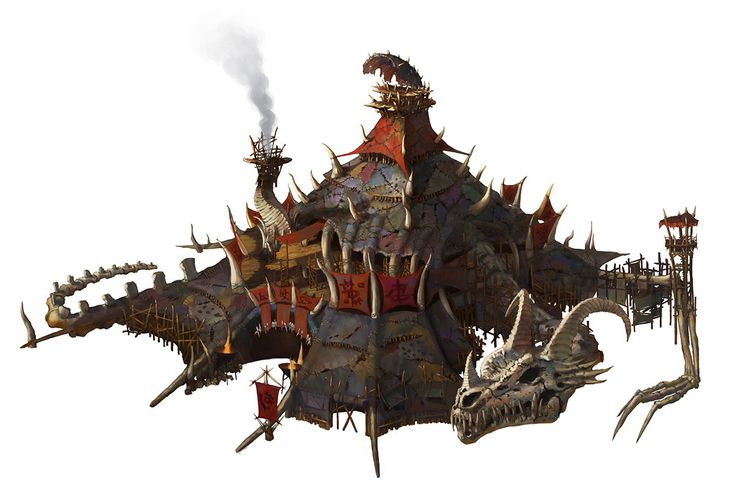 Orc House, KWON JaeIl on ArtStation at https://www.artstation.com/artwork/DlQaR