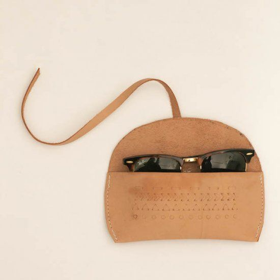 Make this simple leather sunglasses case in a few simple steps!