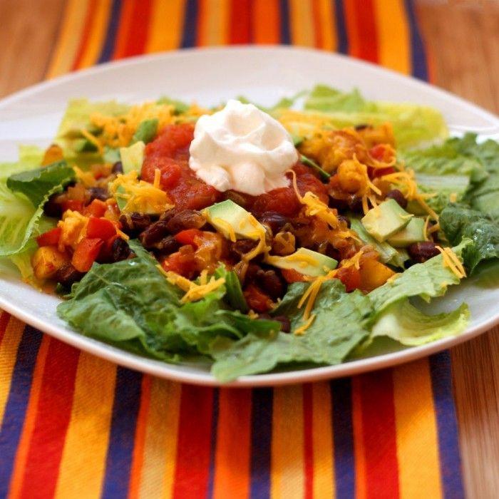 Mexican Black Bean Taco Salads