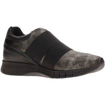 hippe Impronte il162514 slip on women leather heren sneakers (Zwart)