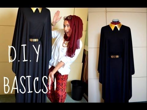 DIY HOW TO MAKE YOUR OWN ABBAYA/DRESS! - YouTube