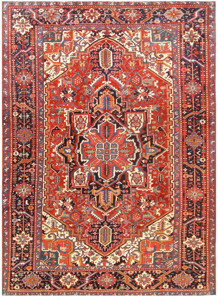 Antique Persian Heriz Rug 48316 In 2019 Rugs Persian