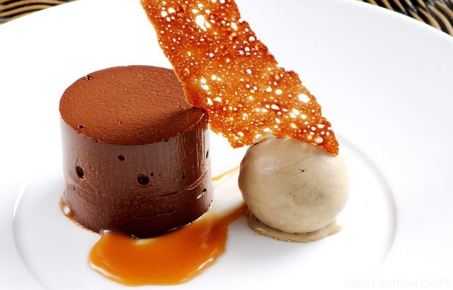 Matthew Tomkinson's dark chocolate delice recipe includes a loving scoop of coffee ice cream. Serve this classic and there will be no complaints
