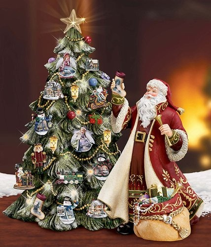 96 best thomas kinkade/santa ornaments images on pinterest