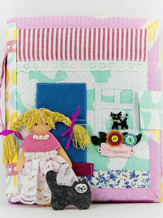 Dollhouse Quiet Book Quiet Book Busy Book Dress up by ToysByIna #dollhouse, #activitytoy, #fabricdollhouse, #quietbook, #activitybook