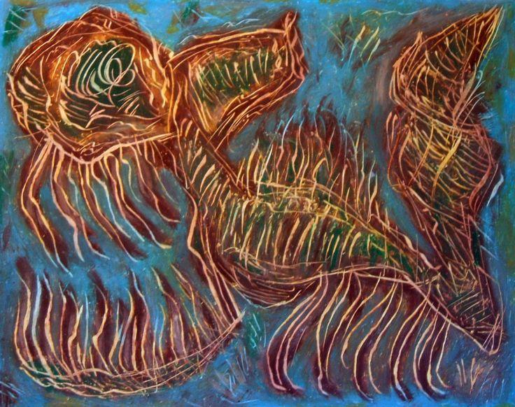 """""""Demone carogna"""" 2012 Tecnica mista su cartoncino 38x48 Collezione privata ©Pietro Gargano"""