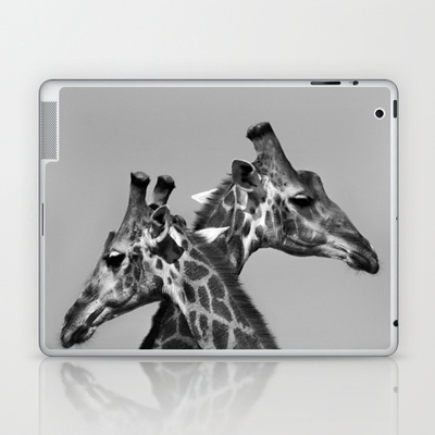 Giraffe Love Laptop & iPad Skin by LinnB -