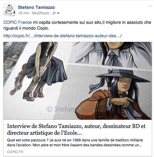 Interview de Stefano Tamiazzo, auteur, dessinateur BD et directeur artistique de l'Ecole Nationale de la Bande Dessinée de Padoue chez Copic France. #stefanotamiazzo #copicfrance #copic #bd