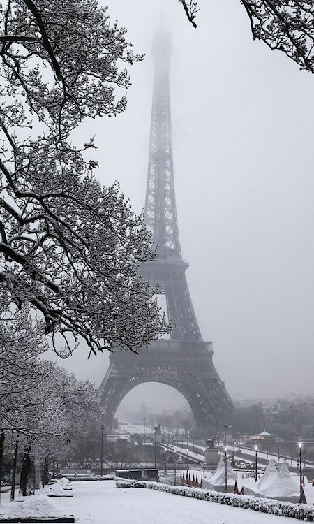 Tour Eiffel ~ Paris in winter, France