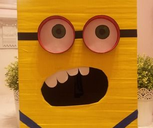 how to make a no sew minion | Despicable Me Minion Valentines Day Box by NErDy NErDs