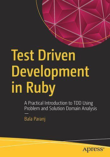 Test Driven Development in Ruby Pdf Download e-Book