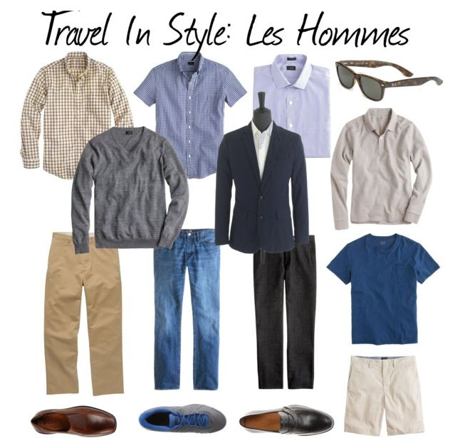 As with women's travel wardrobes, the types of clothing will depend on activities, climate and levels of formality, as well as the personal style of the man.