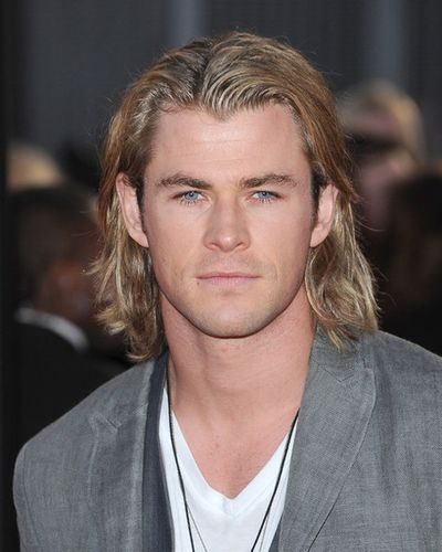 This just might be my Christian Grey....maybe....hair shorter.....Chris Hemsworth <3