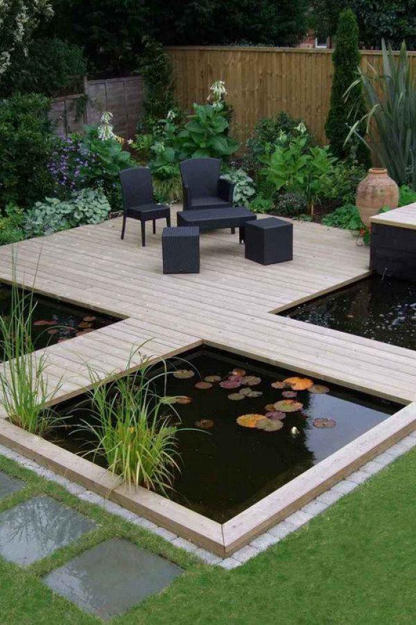 Mini Patio Koi Pond 39 Koi Pond Designs Easy Landscape Ideas At Backyardcom Com Backyardcom Landscaping Garden Pond Design Koi Pond Design Minimalist Garden