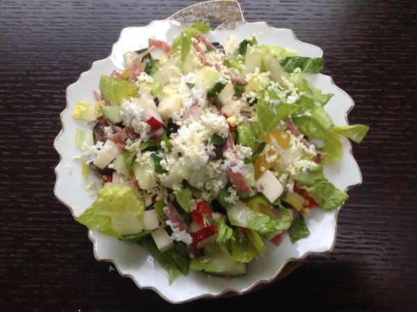 Mediterranean Chopped Salad with Greek Slather