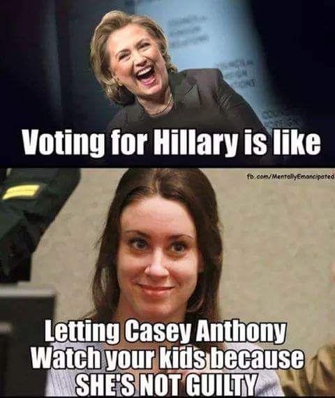 Hillary clinton memes casey Anthony vote