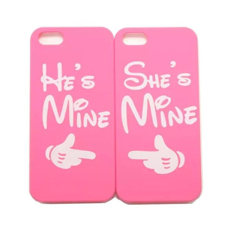 """How cute and sweet are these hard cover cases for your iPhone. They are matching hard cases that have a """"She's Mine, He's Mine"""" design, so they are the perfect cases to have if you and your boo want t"""