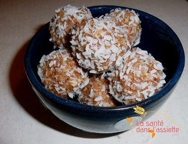 Bouchées gourmandes coco caroube: recette incontournable